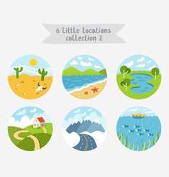 little locations collection 2 vector image