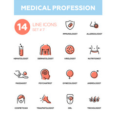 medical professions - modern simple thin line vector image