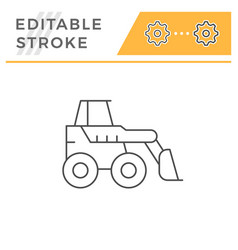 mini earth mover line icon vector image