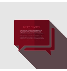 modern bubble speech icon on gray vector image