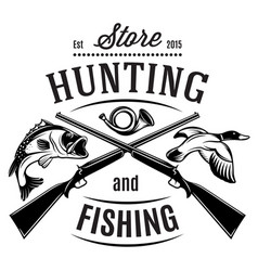 monochrome template on theme duck hunting vector image