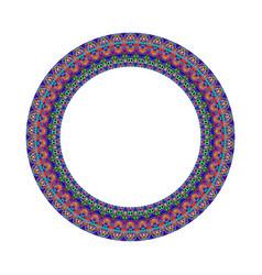 Mosaic border - colorful geometrical circular vector