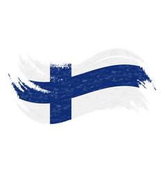national flag of finland designed using brush vector image