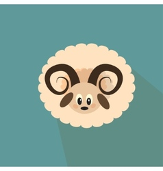 Nice sheep on the blue background vector image