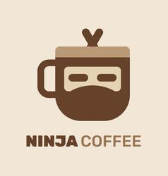 ninja coffee logo vector image