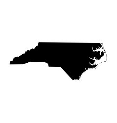 north carolina state of usa - solid black vector image