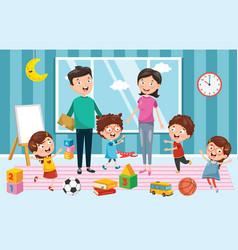 of preschool children vector image
