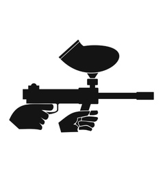 Paintball marker simple icon vector image