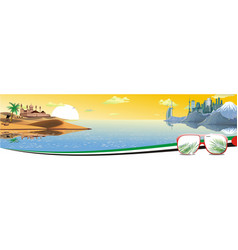 panorama - the arabian resort on the coast vector image
