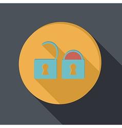 paper flat icon padlock vector image