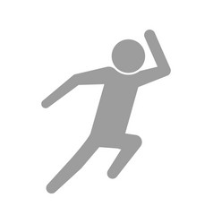 Pictogram man silhouette running concept vector