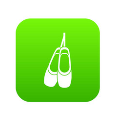 pointe shoes icon digital green vector image