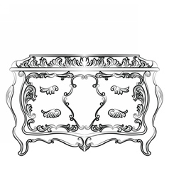 Rich Baroque Dressing Table vector