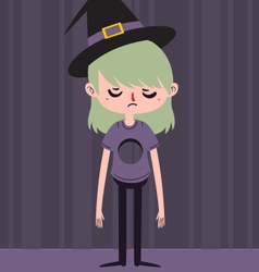 Sad Witch with Hole in Chest vector image