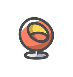 soft modern armchair icon cartoon vector image