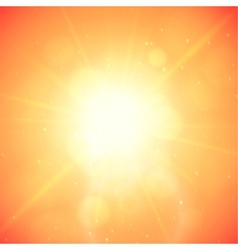 Summer background summer sun with lens flare vector image