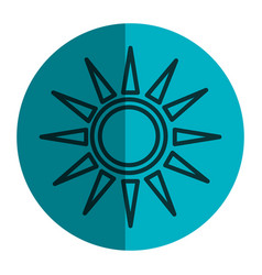 sun silhouette isolated icon vector image