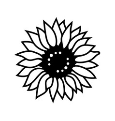 sunflower icon thin line style sunflower for vector image