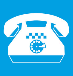 Taxi phone icon white vector