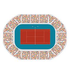 Tennis arena top view vector