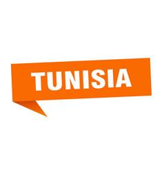 Tunisia sticker orange tunisia signpost pointer vector