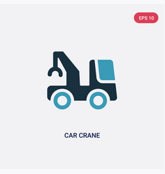 Two color car crane icon from mechanicons concept vector