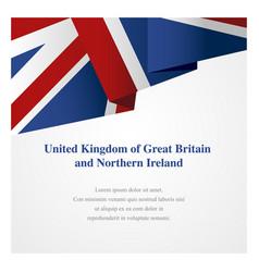 united kingdom insignia template vector image