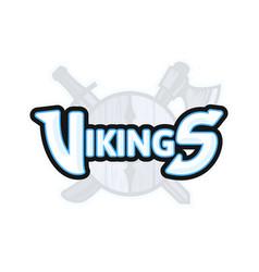 Vikings sport logo emblem vector