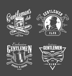 Vintage gentleman logos collection vector