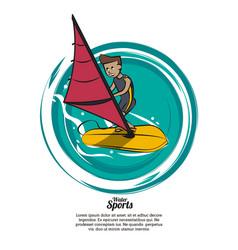 Water sports banner vector