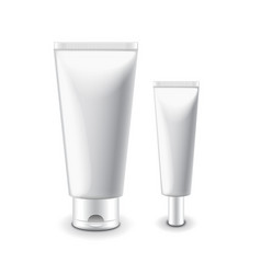 White cosmetic tubes for cream isolated vector image