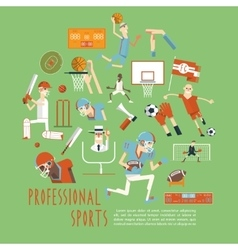 Professional competitive team sports concept vector image vector image