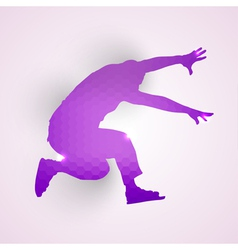 Silhouette of jumping man vector image vector image