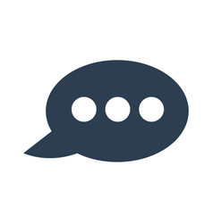 speech bubble icon on white background vector image