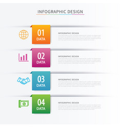 business index infographics template with 4 data vector image vector image