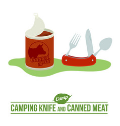 camping flat icon vector image