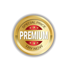 premium special price sticker golden badge vector image vector image
