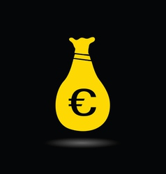 sack of money euro color ilustration vector image vector image