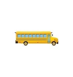Yellow school bus icon cartoon style vector image vector image