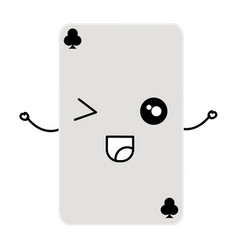 poker card kawaii character vector image