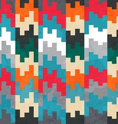 retro pixels seamless pattern vector image