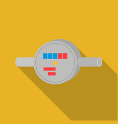 water meter icon in flat style isolated on white vector image