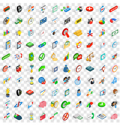 100 transaction icons set isometric 3d style vector