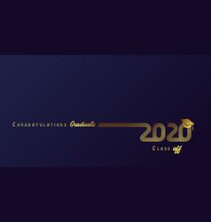 2020 congratulation graduate golden lines design vector image