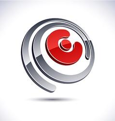 3D E letter icon vector