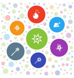 7 spark icons vector