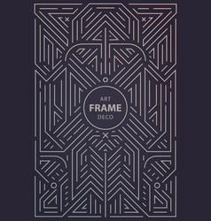 abstract geometric art deco frame border vector image