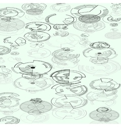 Abstract hud elements on white background High vector image