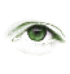abstract human digital eye vector image