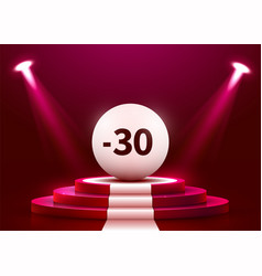 Abstract round podium with sale ball illuminated vector